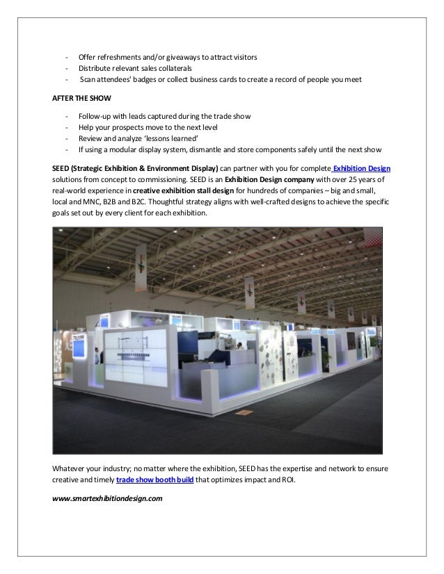 Checklist For Exhibition Booth : Checklist for effective exhibition stall