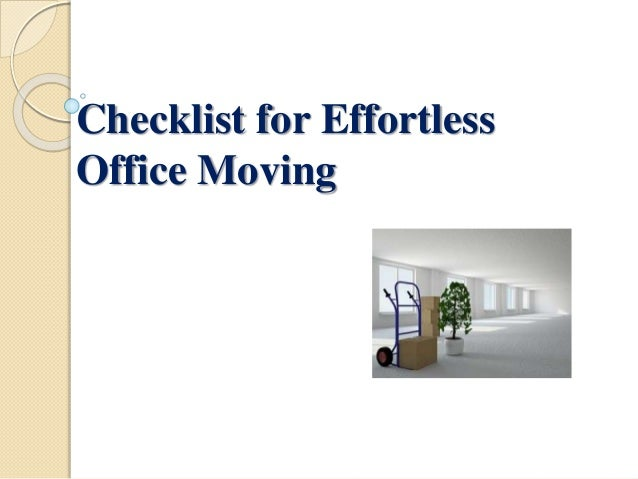 Checklist for Effortless Office Moving