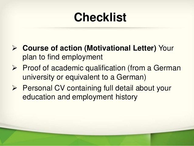 Checklist for germany job seeker visa job search in germany 4 spiritdancerdesigns Images
