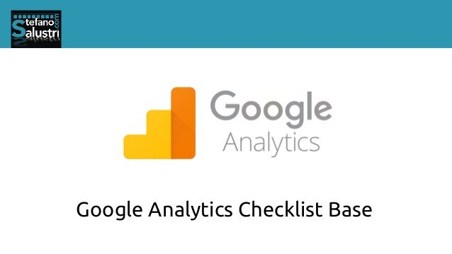 Google Analytics Checklist Base