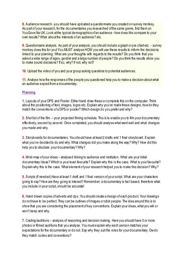 Checklist Guidance
