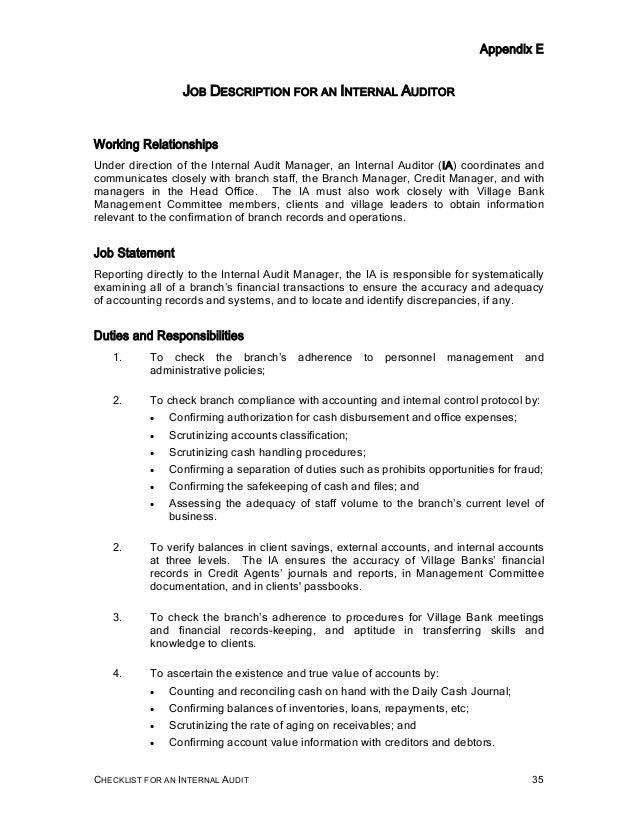 internal auditor resume sample resume manager internal audit internal auditors job description