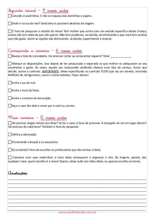 Check list madrinhando - Organizando o casamento Slide 2
