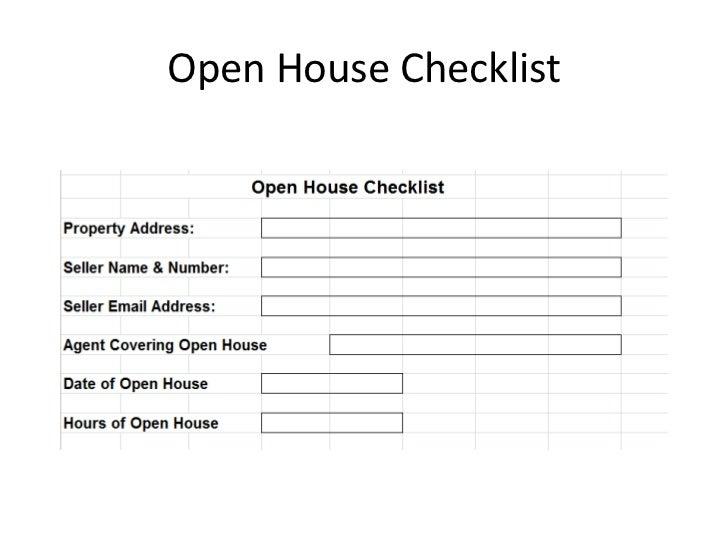 Open House Checklist