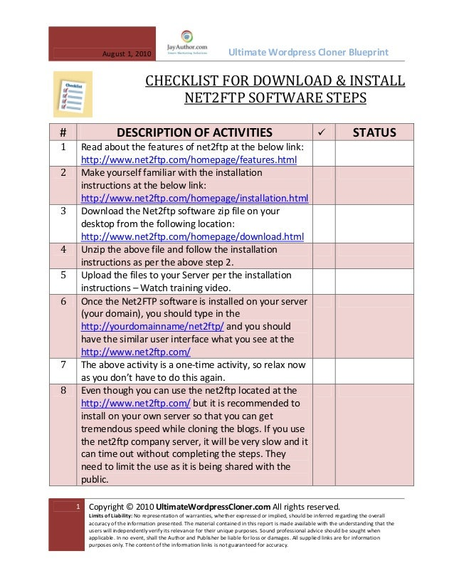 How to the Install Free FTP Software on Your Server Checklist?