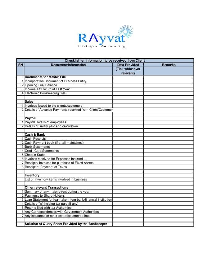 Client checklist template leoncapers client checklist template bookkeeping checklist wajeb Choice Image