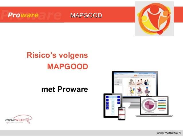 www.metaware.nl Risico's volgens MAPGOOD met Proware MAPGOODMAPGOOD