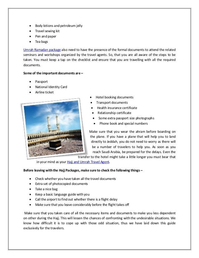 Travel Insurance For Hajj And Umrah