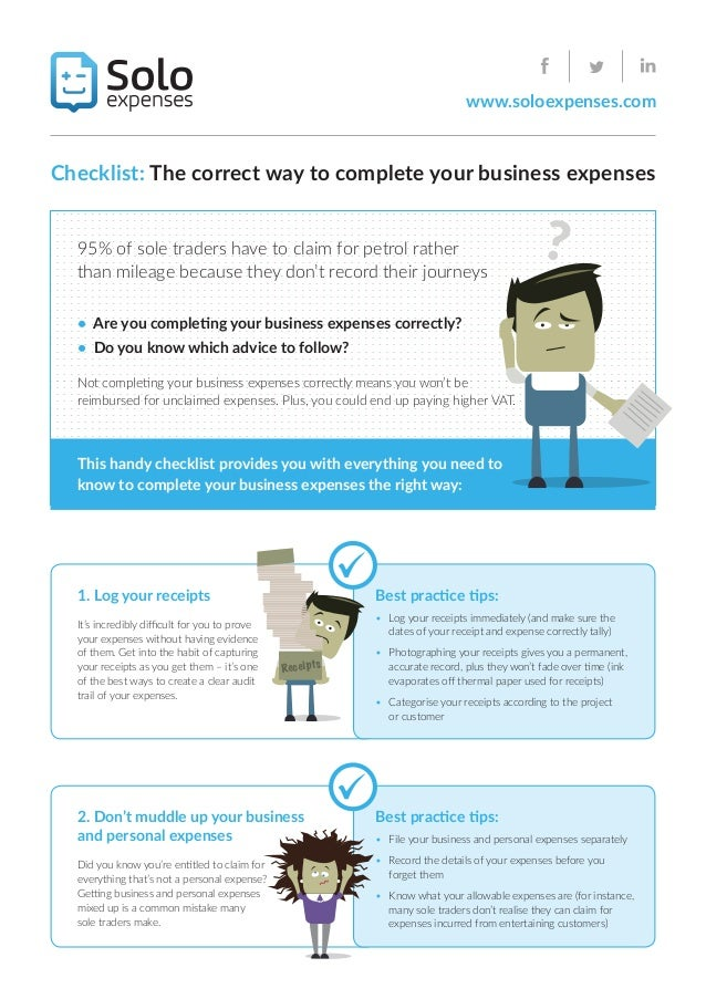 check list the correct way to complete your business expenses
