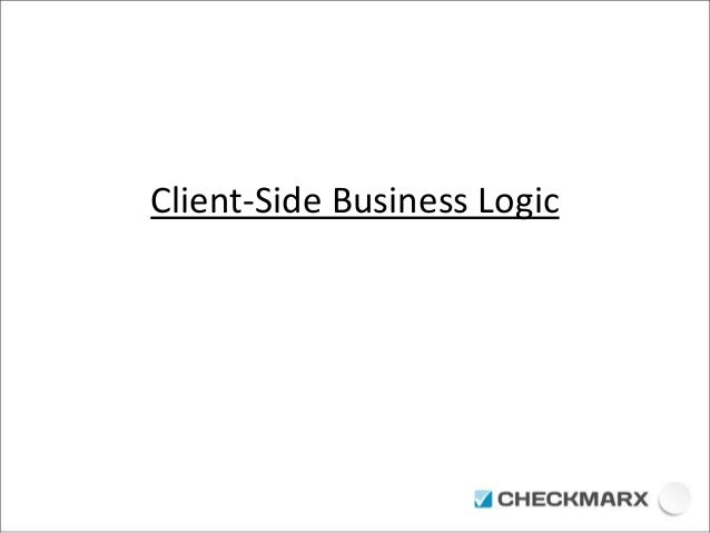 Client-Side Business Logic