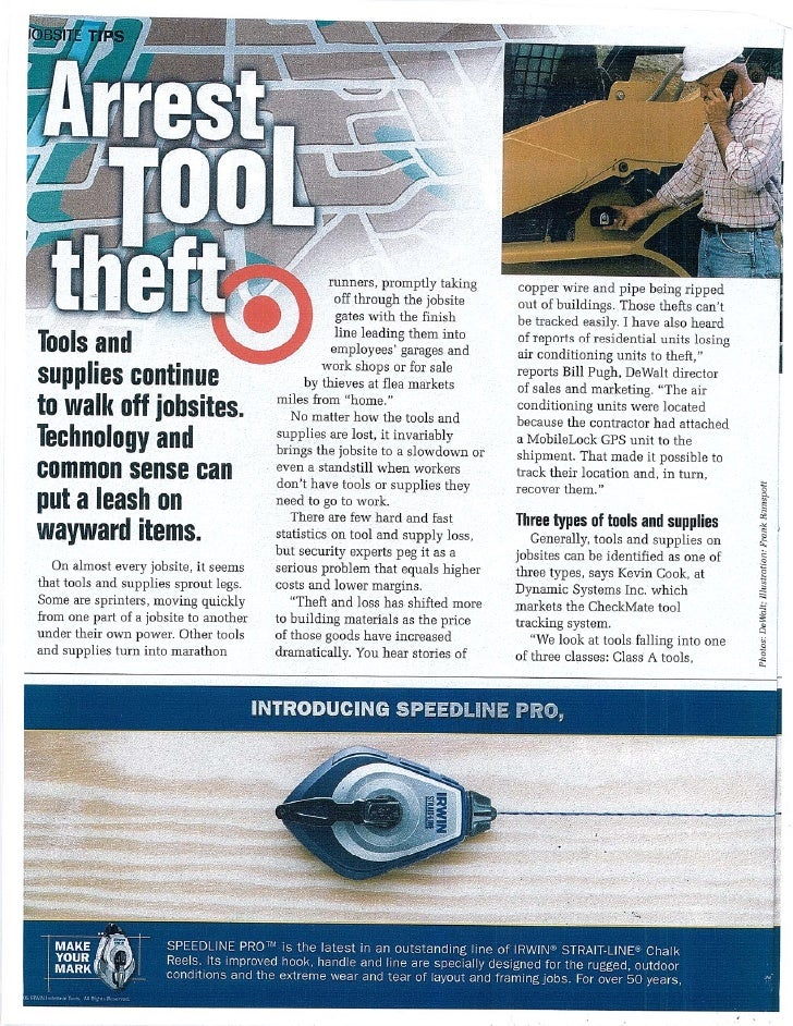 Checkmate tools & supplies article