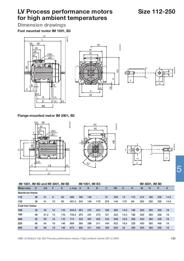 Abb motor drawings for Abb m3bp motor catalogue