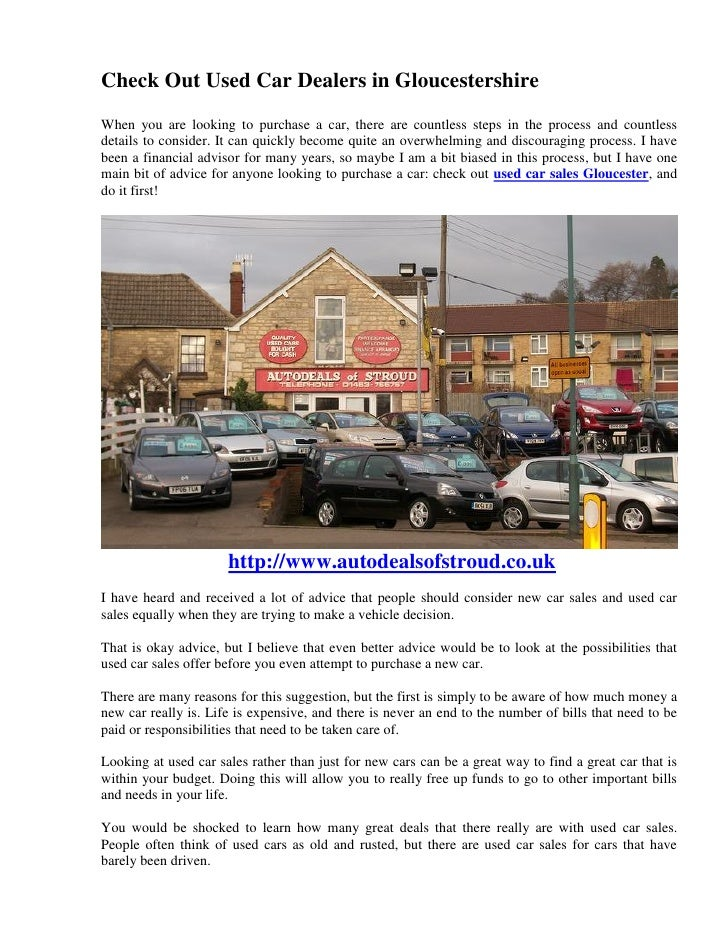 Check Out Used Car Dealers In Gloucestershire
