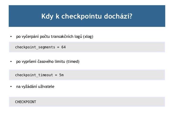 Checkpoint (CSPUG 22.11.2011) Slide 3