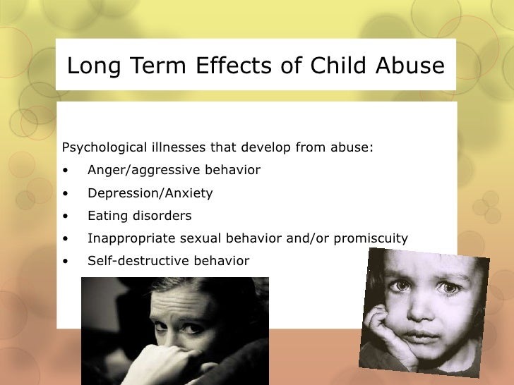 abused adult as child Effects of
