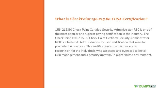 Check point 156 215.80 ccsa administrator exam braindumps question fo…
