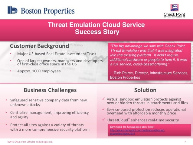 Check point sandblast threat-emulation-customer-success