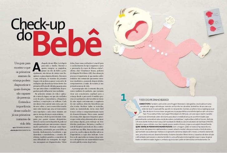 Check-up  do        Um guia para        mostrar o que         os primeiros                                  Bebê          ...