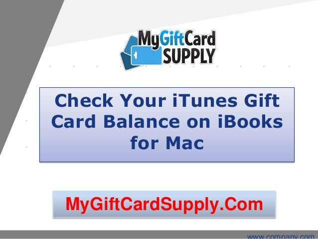 Check Your iTunes Gift Card Balance on iBooks for Mac