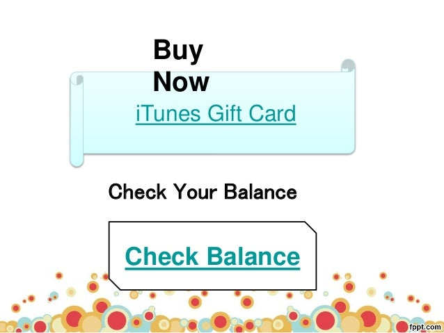 Check Your iTunes Gift Card Balance On Your Desktop - MyGiftCardSupply