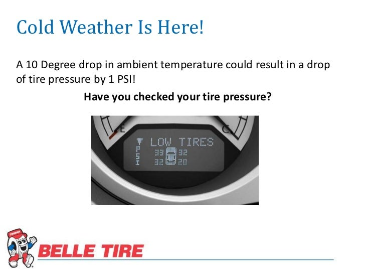 Check Your Tire Pressure Cold Weather Is Here