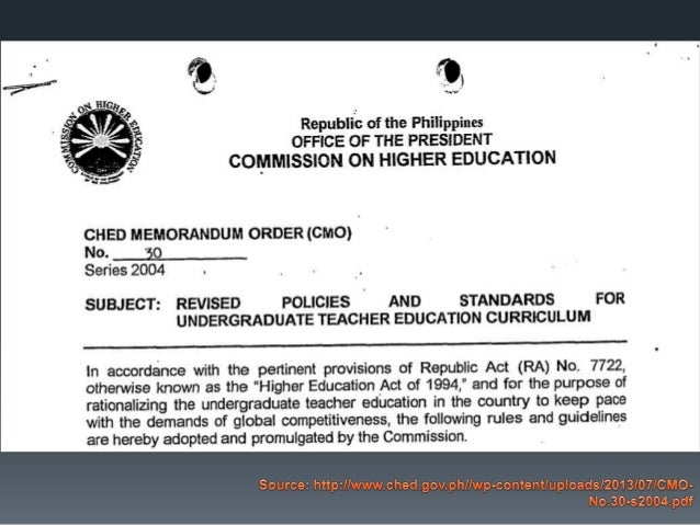 ched memo 30 series 2004 Murita s panganiban – assumption college, philippines adora s pili   references ched memo order (cmo) 30, series 2004 costa, n.