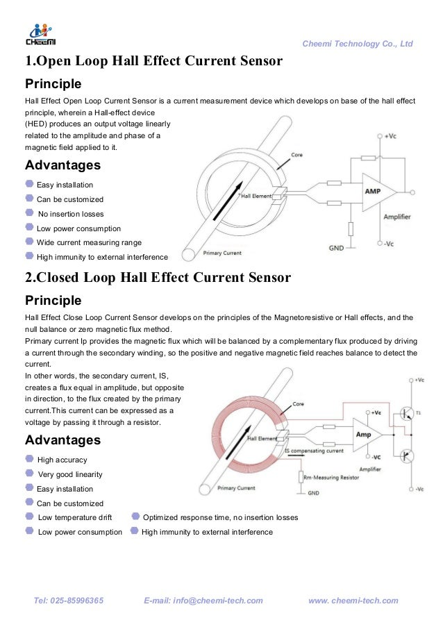 Cheemi e catalogue for hall effect sensors on