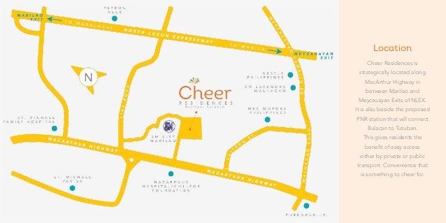 Cheer Residences In Marilao Bulacan Beside SM Marilao - Marilao map