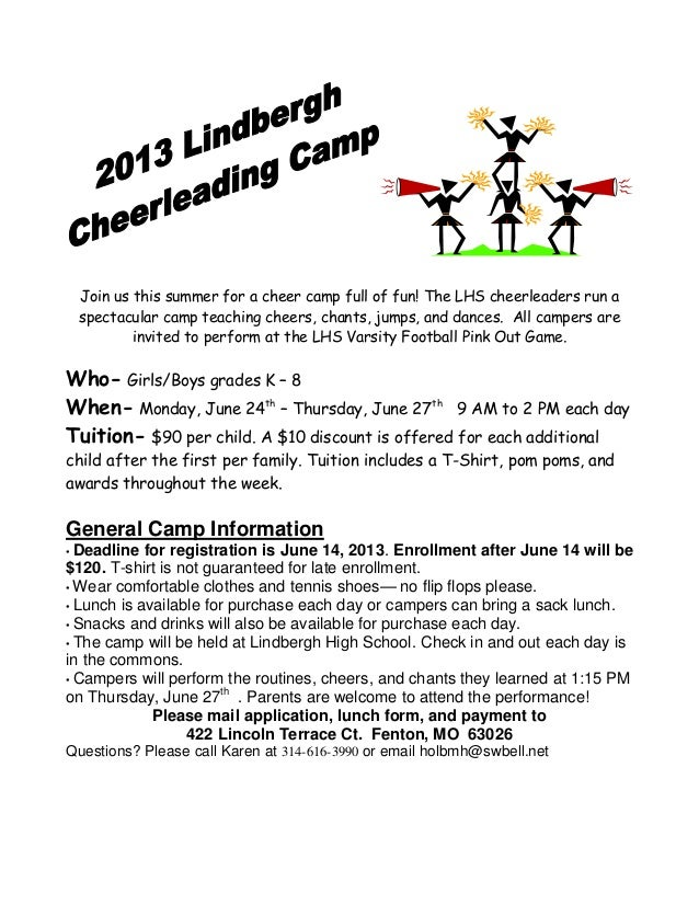 Cheerleading Camp Summer 2013 Electronic