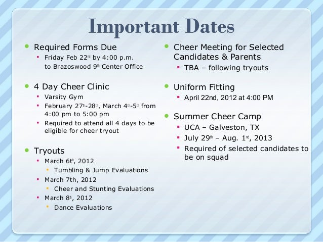 Cheer Parent Mtg