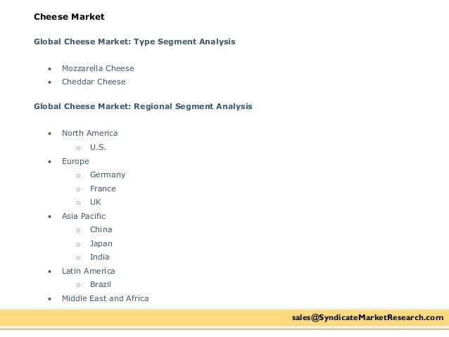 Uk cheese market analysis