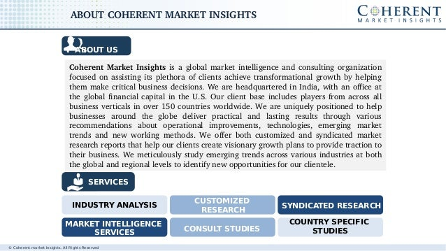 © Coherent market Insights. All Rights Reserved CoherentMarketInsightsisaglobalmarketintelligenceandconsultingor...