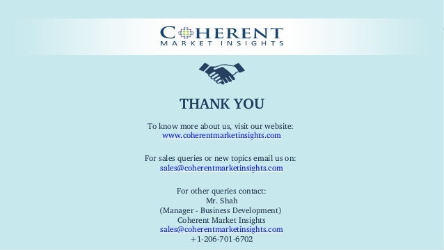 © Coherent market Insights. All Rights Reserved THANKYOU Toknowmoreaboutus,visitourwebsite: www.coherentmarketins...