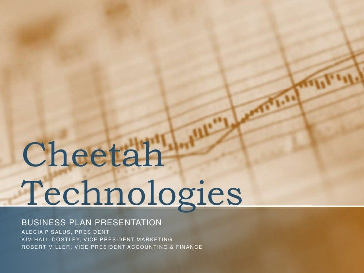 Cheetah Technologies<br />Business plan presentation<br />Alecia P Salus, President<br />Kim Hall-costley, Vice President ...