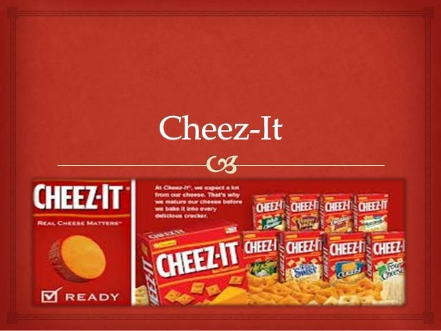 Brief History  • Cheez-It's were first sold by the Green & Green Company in Ohio, 1921. • After the Wall Street Crash of ...