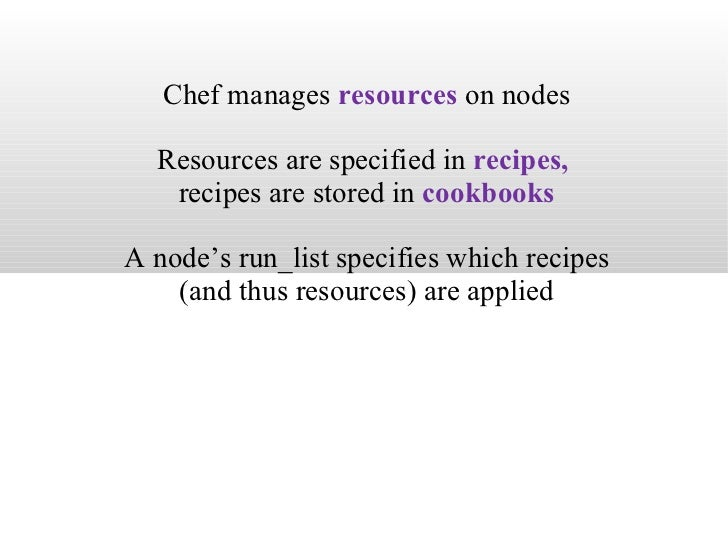 chef - knife search nodes based on cookbook::recipe ...