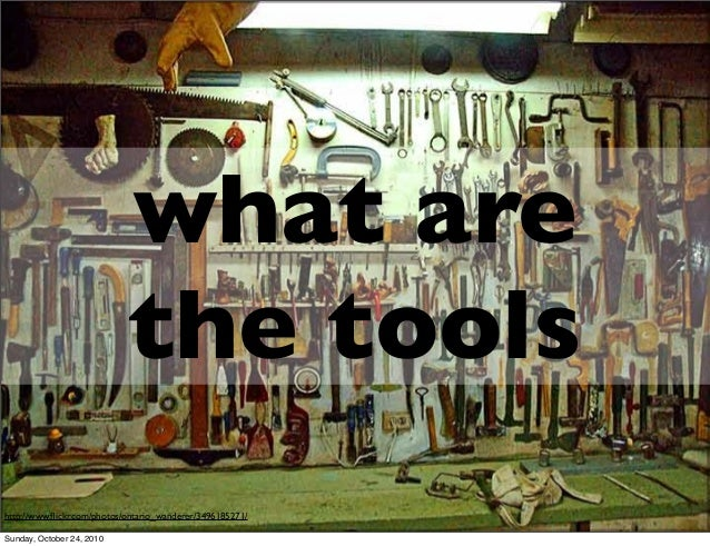 what are the tools http://www.flickr.com/photos/ontario_wanderer/3496185271/ Sunday, October 24, 2010