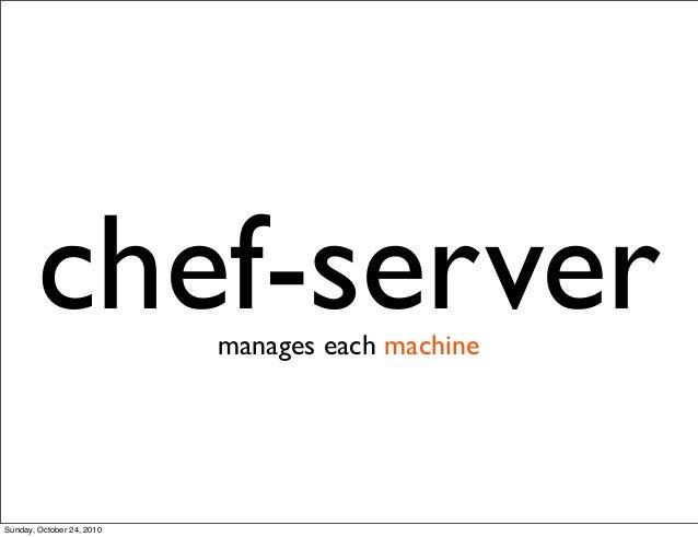 chef-servermanages each machine Sunday, October 24, 2010
