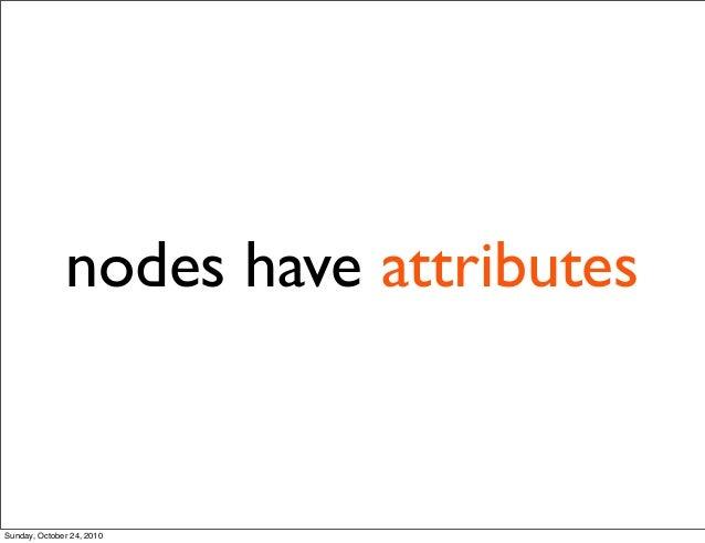 nodes have attributes Sunday, October 24, 2010
