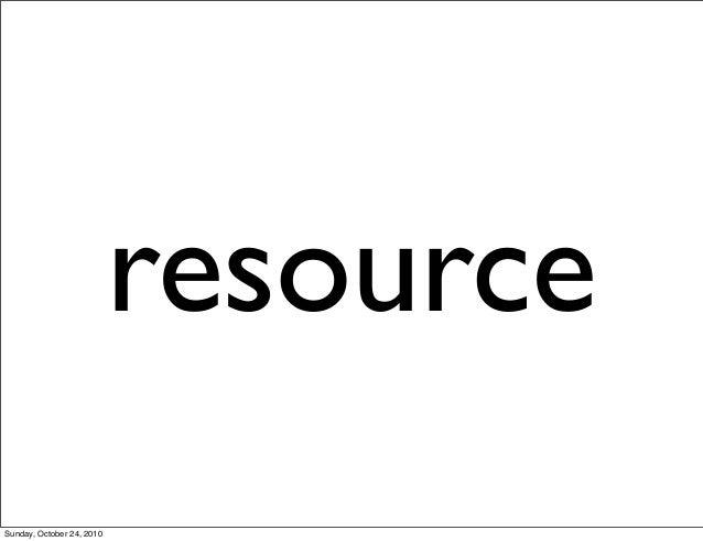 resource Sunday, October 24, 2010