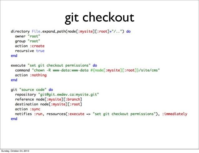 git checkout Sunday, October 24, 2010