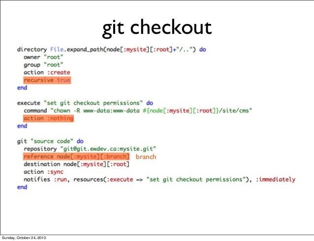 git checkout branch Sunday, October 24, 2010