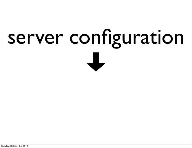 server configuration Sunday, October 24, 2010