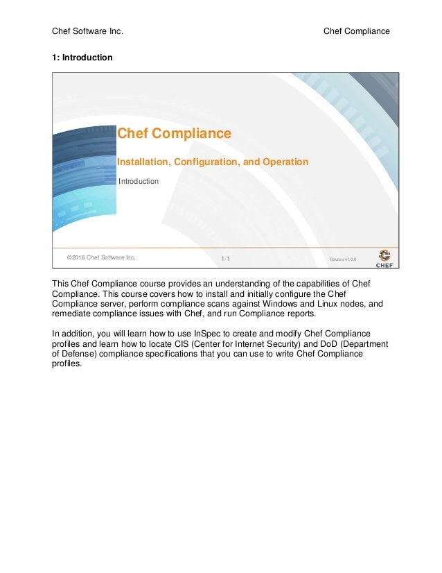 Intermediate/Compliance training Guide