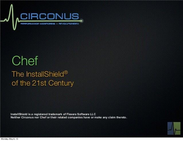 ChefThe InstallShield®of the 21st CenturyInstallShield is a registered trademark of Flexera Software LLCNeither Circonus n...