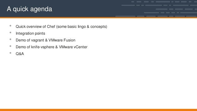 opscode webinar managing your vmware infrastructure with chef. Black Bedroom Furniture Sets. Home Design Ideas