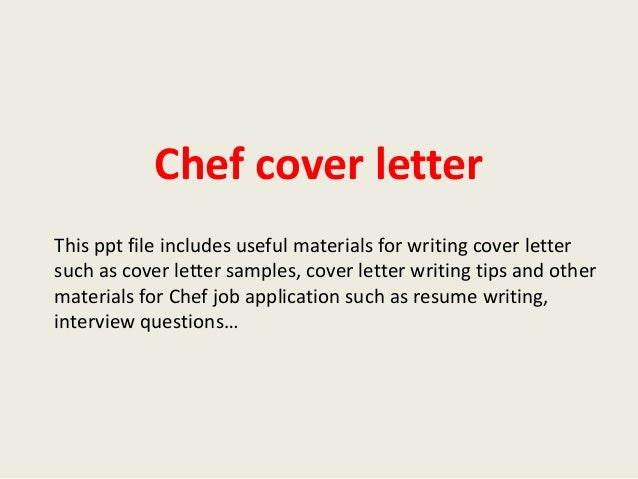 executive chef cover letters
