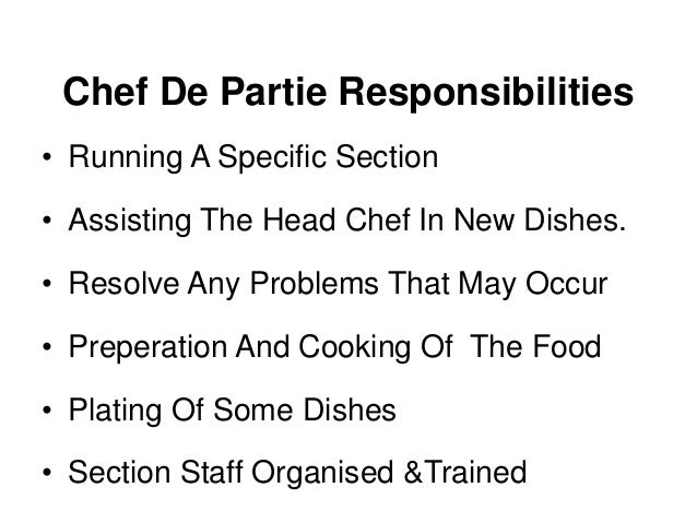 What is a chef de partie a description and definition of - Chef de partie en cuisine ...