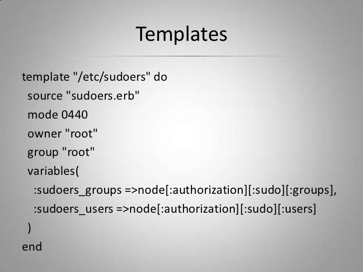 Chef introduction for Chef template variables