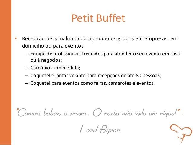 Petit Buffet • Recepção personalizada para pequenos grupos em empresas, em domicílio ou para eventos – Equipe de profissio...